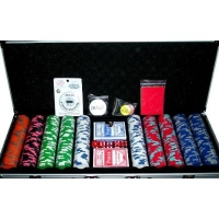 500pc 14g Premium Nexgen Style Poker Chip Set with Accessories
