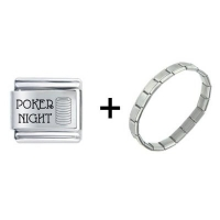 Poker Night Italian Charm Bracelet