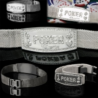 Silver Mesh World Poker Champion Bracelet