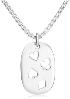 Zina Sterling Silver Men's Poker Suite Pendant