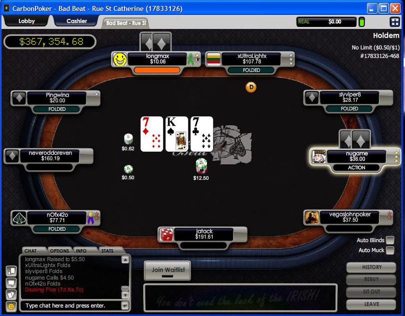 Carbon poker us players deposit